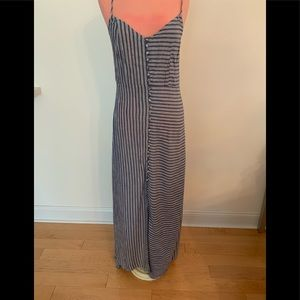 Brand new blue and white striped maxi dress